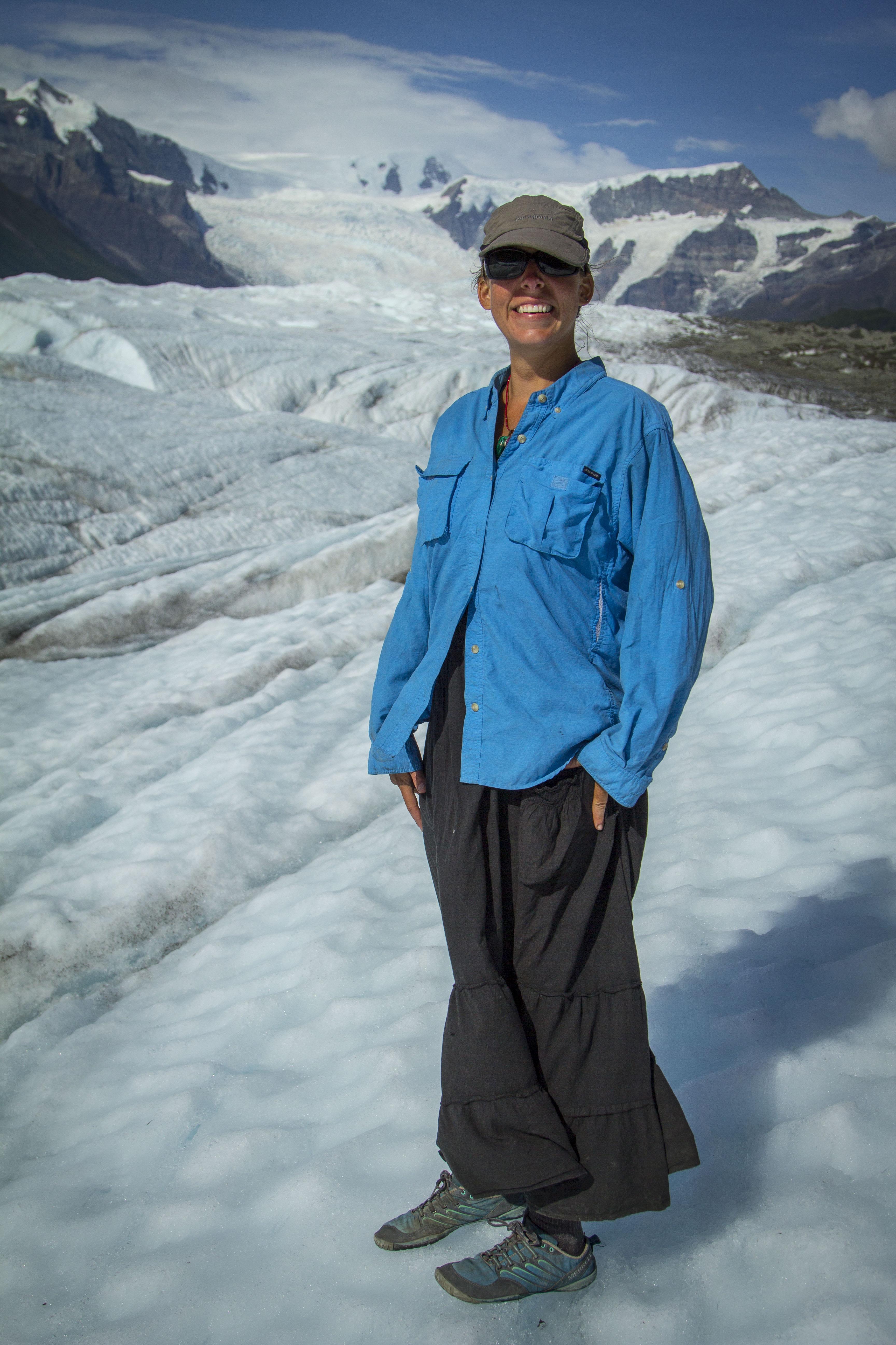 Angela on the Root Glacier
