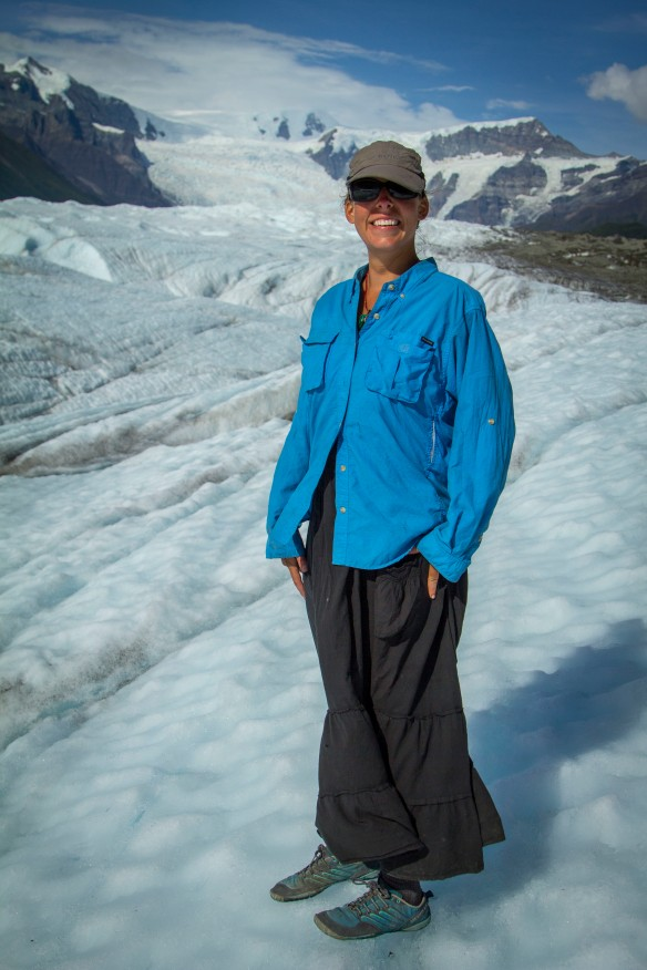 Angela on the Root Glacier